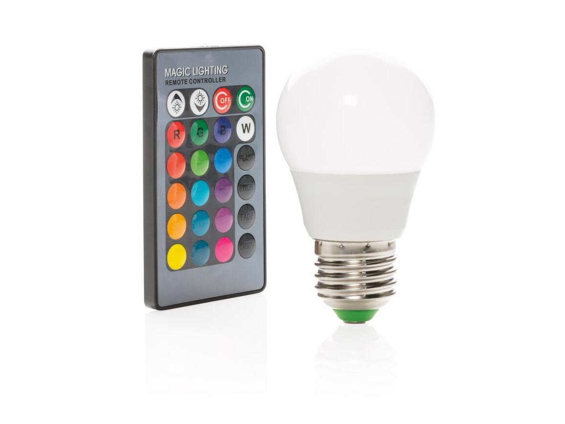 Farbwechselnde Glühbirne mit Fernbedienung bedrucken, Art.-Nr. P330.113