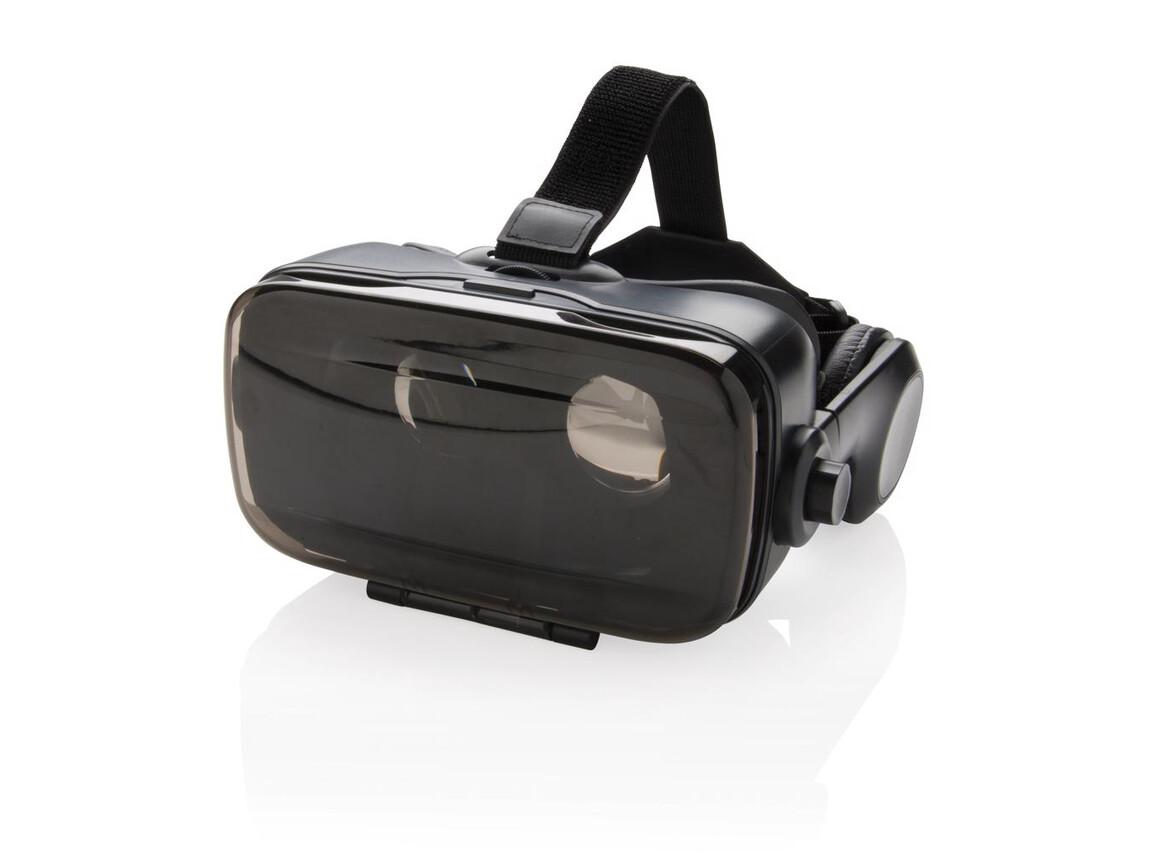 VR-Brille mit integriertem Kopfhörer schwarz bedrucken, Art.-Nr. P330.151