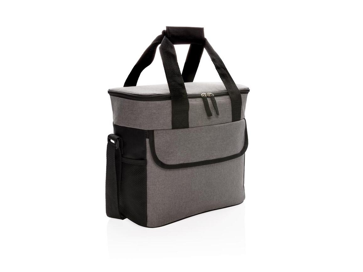Große Kühltasche grau, schwarz bedrucken, Art.-Nr. P422.152