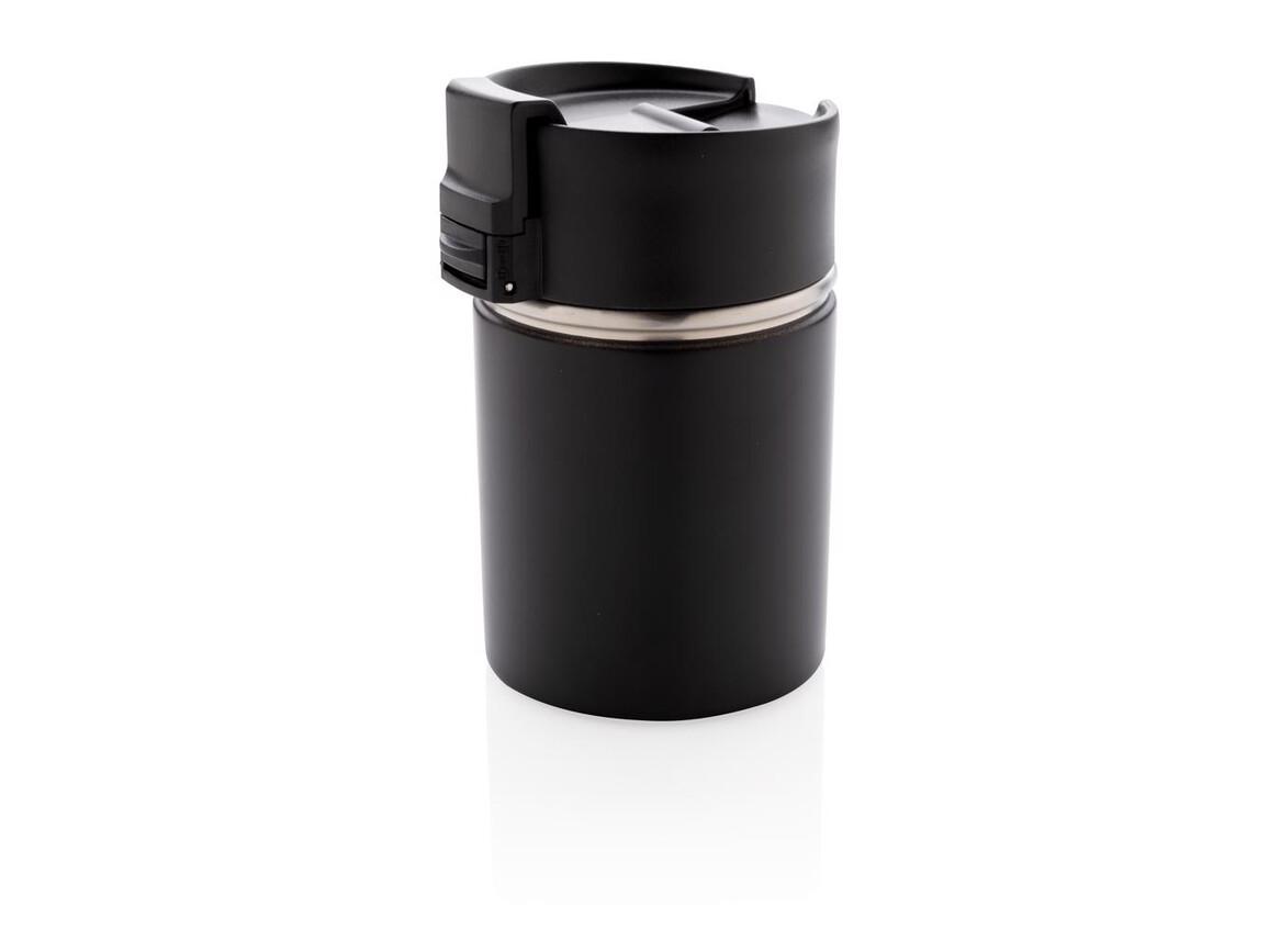 Bogota kompakter Vakuumbecher mit Keramikbeschichtung schwarz bedrucken, Art.-Nr. P432.241