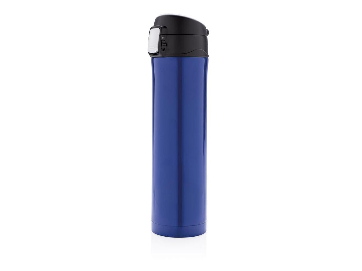 Easy Lock Vakuum Flasche blau, schwarz bedrucken, Art.-Nr. P433.990