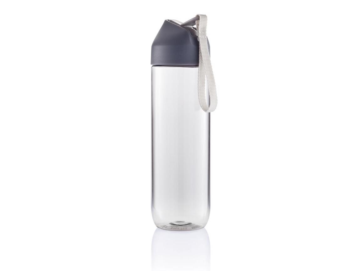 Neva Wasserflasche anthrazit, grau bedrucken, Art.-Nr. P436.061