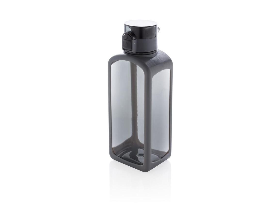Squared verschließbare, auslaufsichere Tritanflasche schwarz bedrucken, Art.-Nr. P436.251
