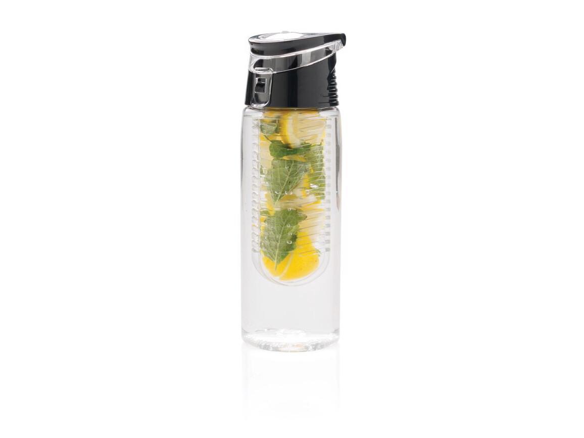 Verschließbare Aromaflasche transparent, grau bedrucken, Art.-Nr. P436.545