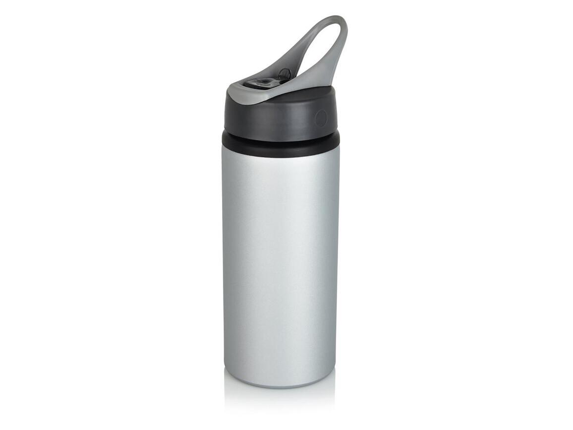 Aluminium Sportflasche grau, grau bedrucken, Art.-Nr. P436.560