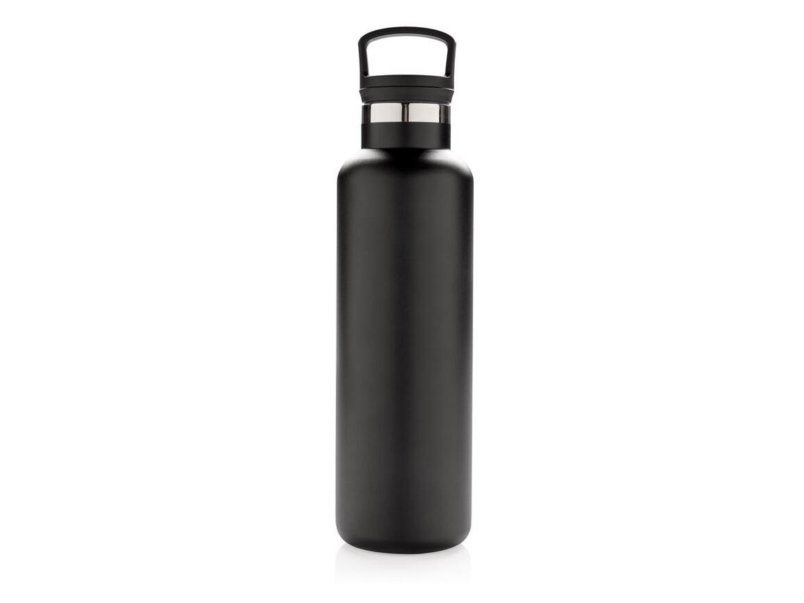 Auslaufsichere Vakuumflasche schwarz bedrucken, Art.-Nr. P436.661