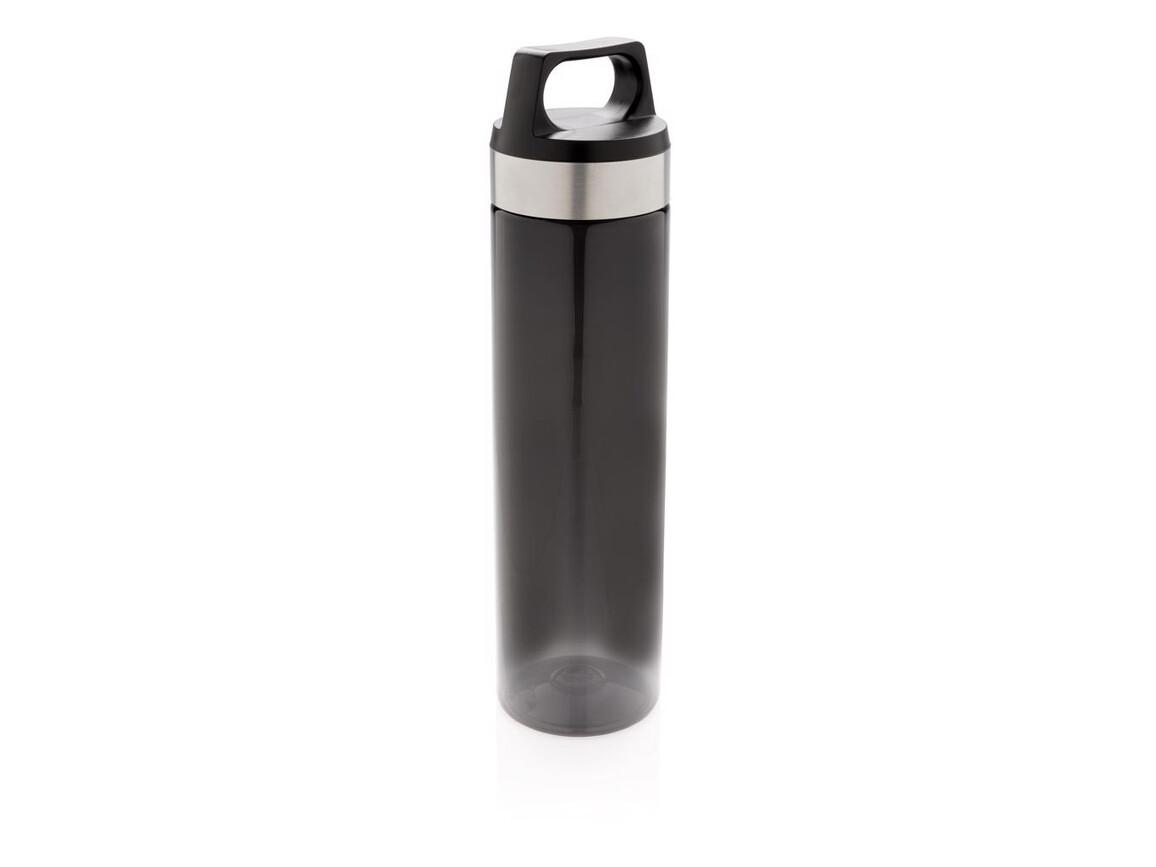 Auslaufsichere Tritan Flasche schwarz bedrucken, Art.-Nr. P436.861