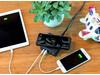 2 in 1 USB & 10W Wireless-Charging Ladegerät schwarz bedrucken, Art.-Nr. P308.601