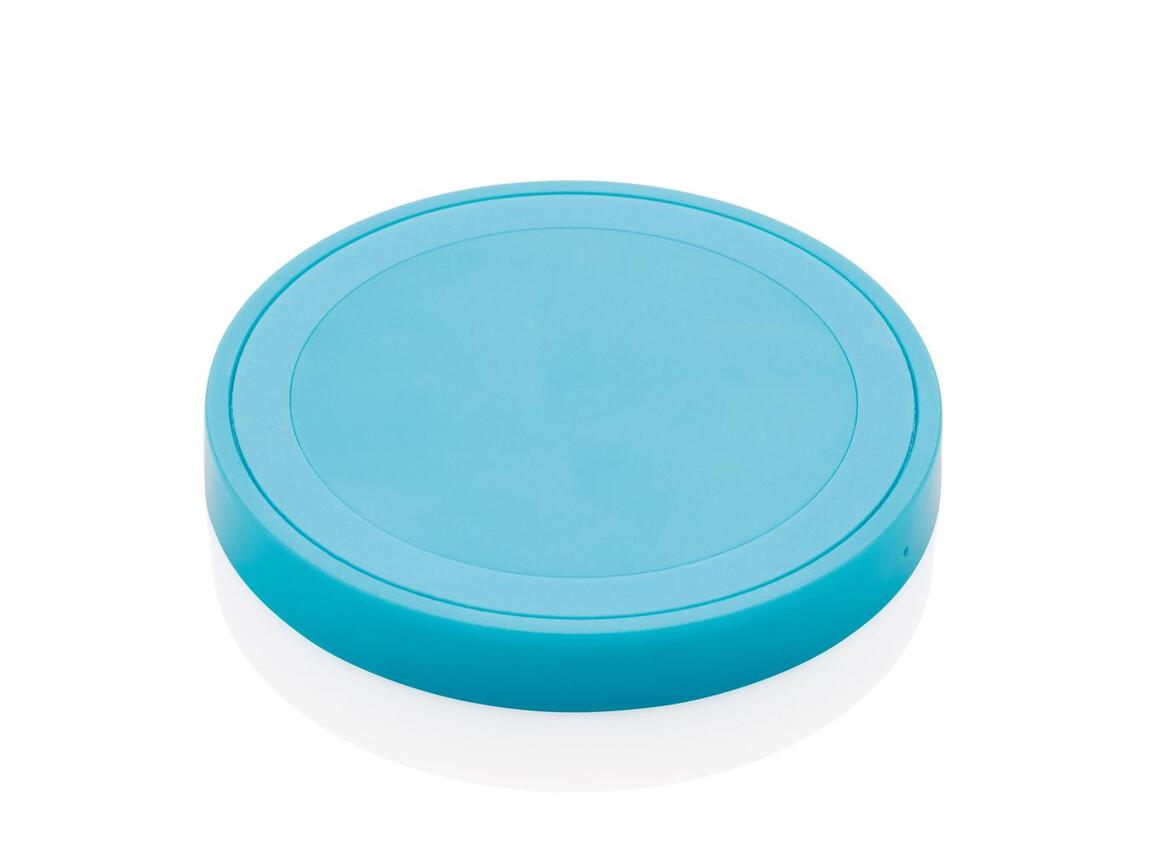 Runder 5W Wirless-Charger blau bedrucken, Art.-Nr. P308.845