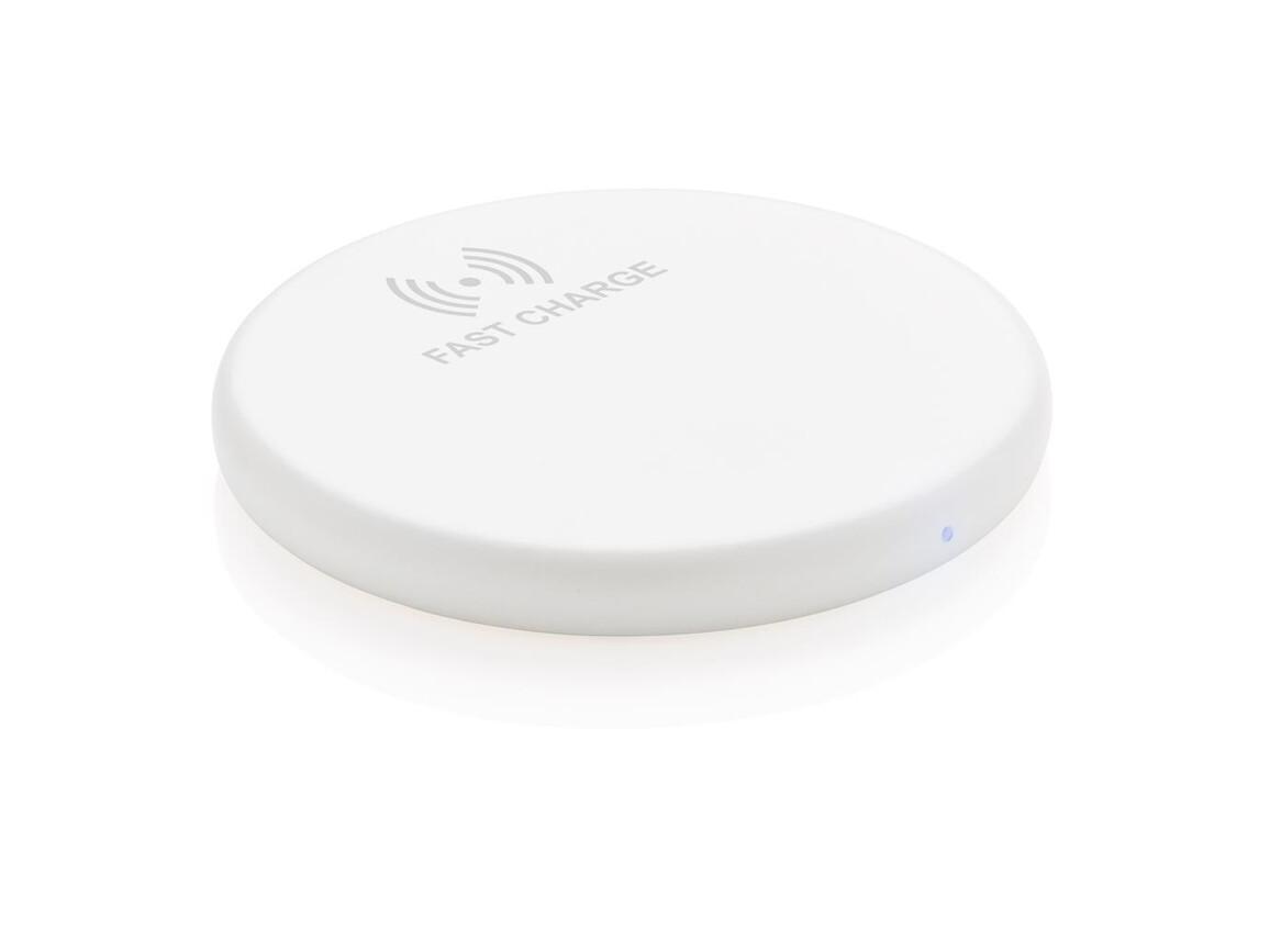 Wireless 10W Schnell-Lade-Pad weiß bedrucken, Art.-Nr. P308.983