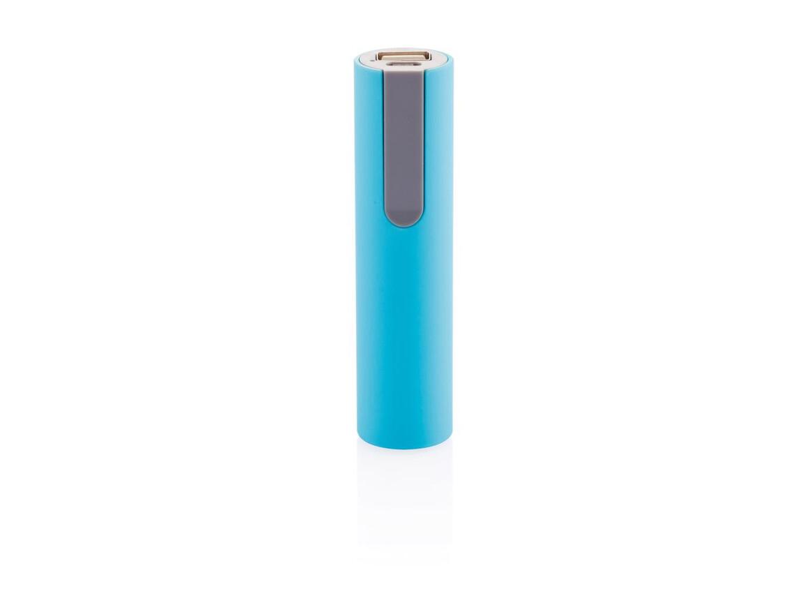 2.200 mAh Powerbank blau, grau bedrucken, Art.-Nr. P324.059