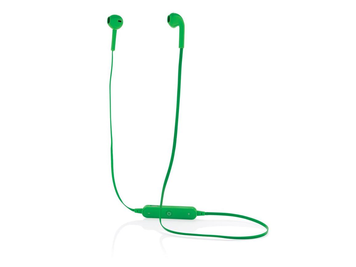 Kabellose Kopfhörer im Etui grün bedrucken, Art.-Nr. P326.567
