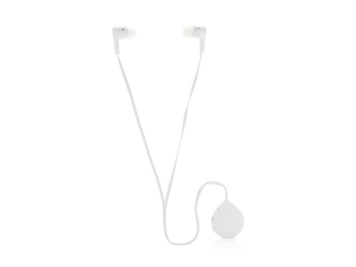 Wireless Kopfhörer mit Clip weiß bedrucken, Art.-Nr. P326.573