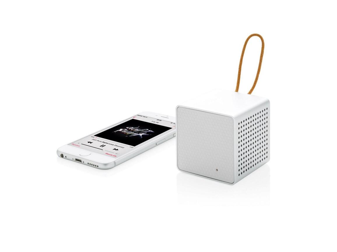 Vibe Wireless Lautsprecher weiß, grau bedrucken, Art.-Nr. P326.633