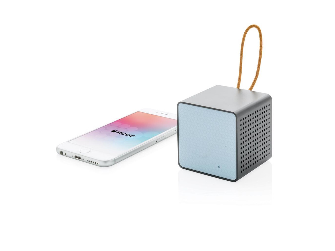 Vibe Wireless Lautsprecher blau, schwarz bedrucken, Art.-Nr. P326.635