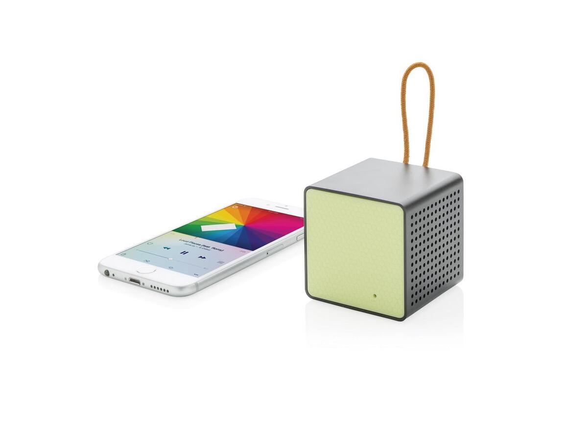Vibe Wireless Lautsprecher grün, schwarz bedrucken, Art.-Nr. P326.637