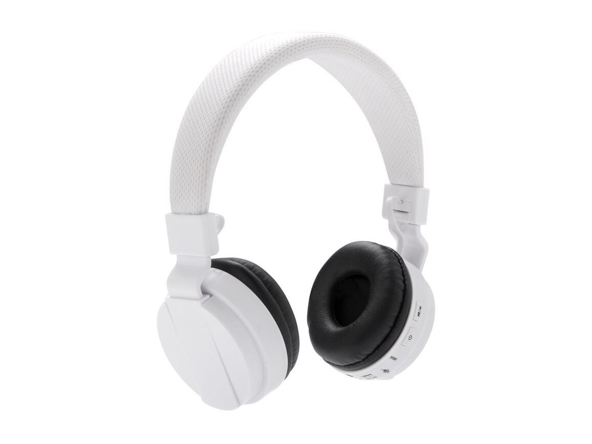 Faltbarer Wireless Kopfhörer weiß bedrucken, Art.-Nr. P326.703