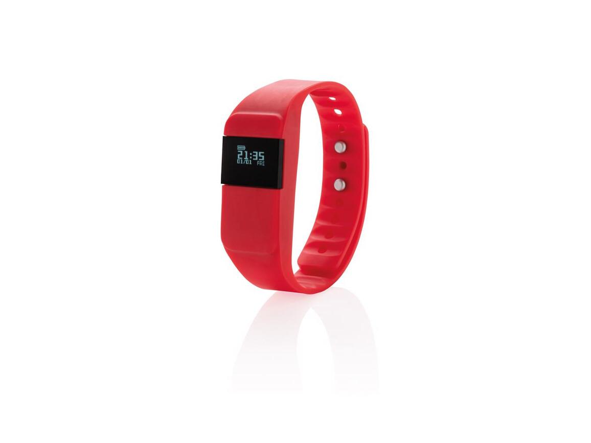 Activity-Tracker Keep Fit rot bedrucken, Art.-Nr. P330.754
