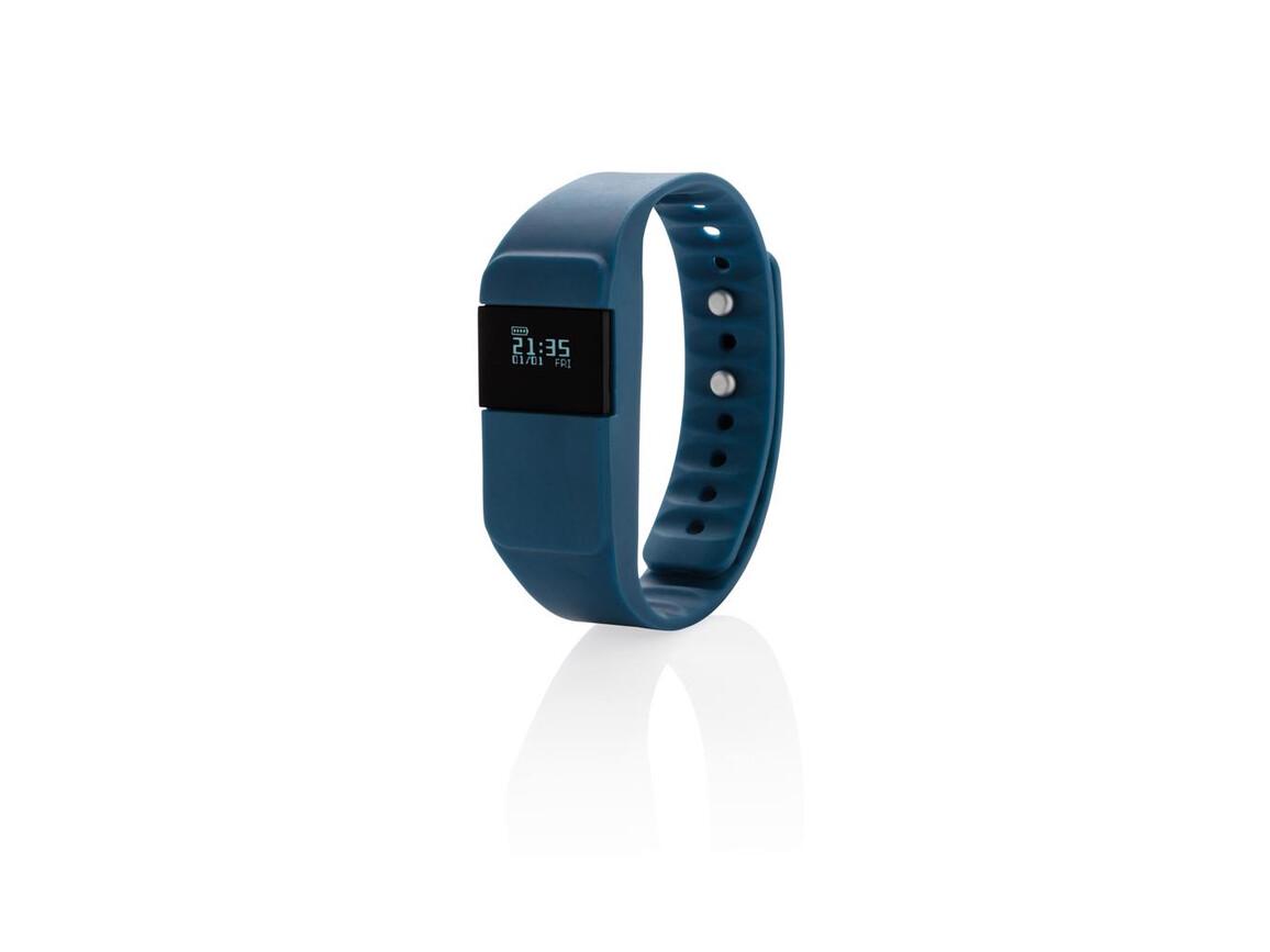 Activity-Tracker Keep Fit blau bedrucken, Art.-Nr. P330.755