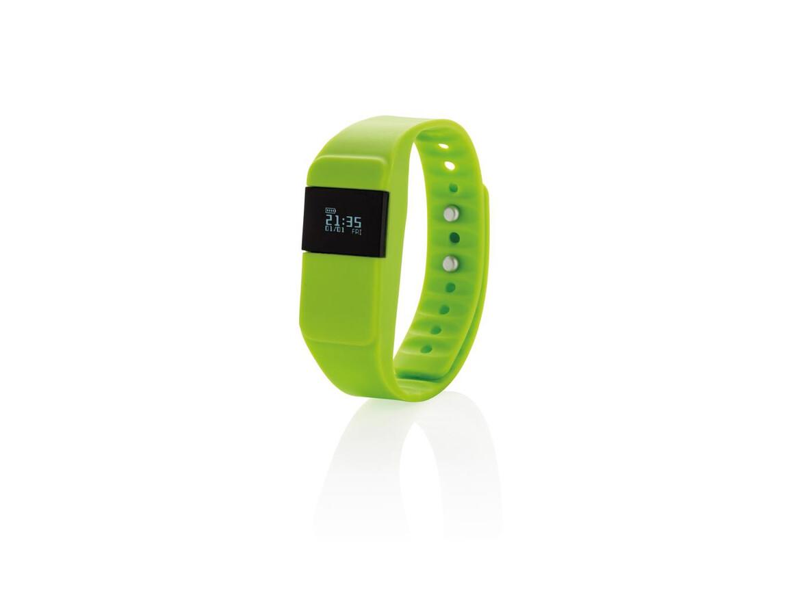 Activity-Tracker Keep Fit grün bedrucken, Art.-Nr. P330.757
