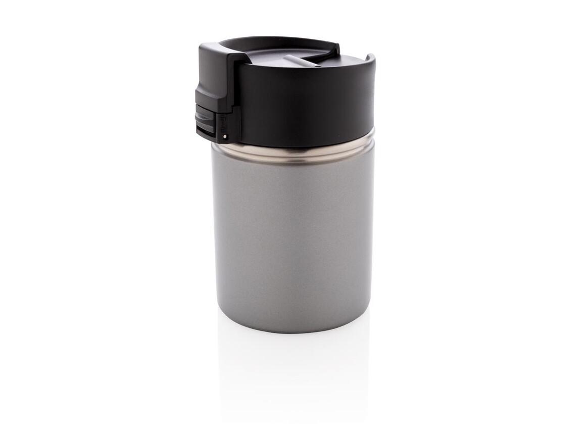 Bogota kompakter Vakuumbecher mit Keramikbeschichtung grau bedrucken, Art.-Nr. P432.242
