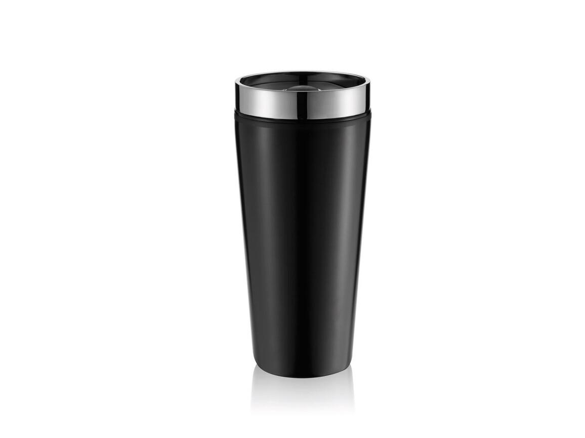 Becher Shake-It schwarz bedrucken, Art.-Nr. P432.422