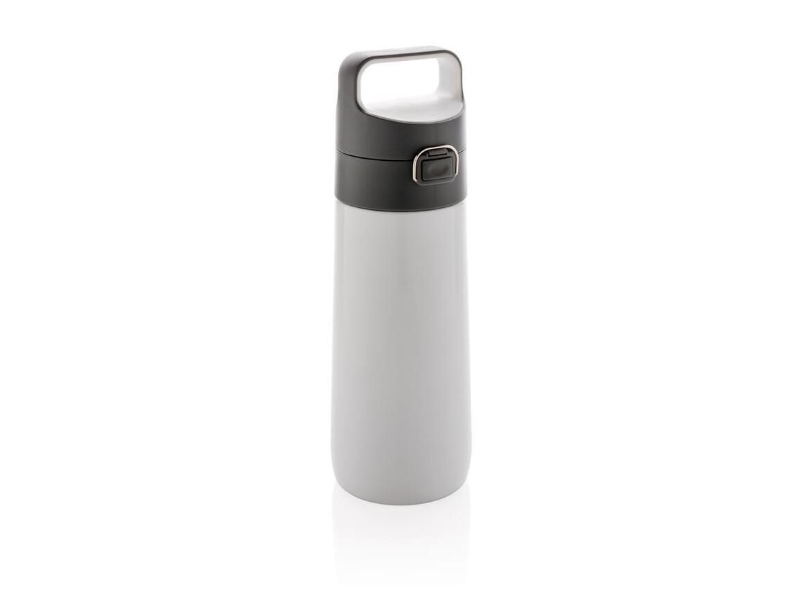 Hydrate auslaufsichere Vakuumflasche weiß bedrucken, Art.-Nr. P432.633
