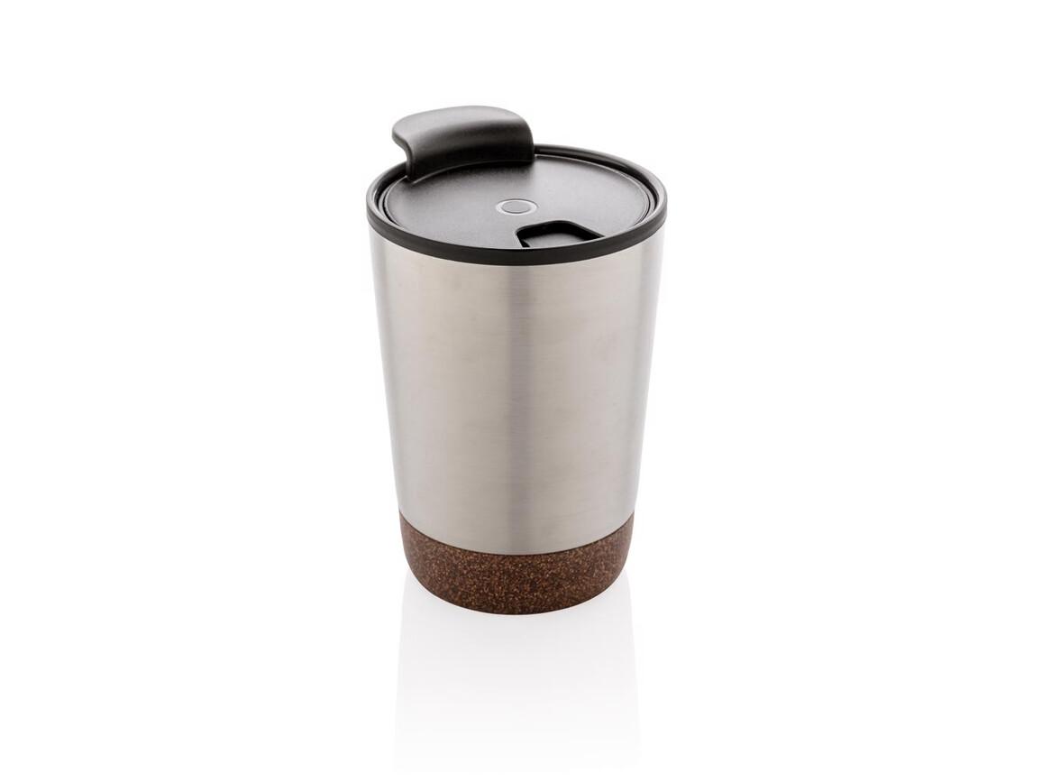 Kork Kaffeebecher silber bedrucken, Art.-Nr. P432.772