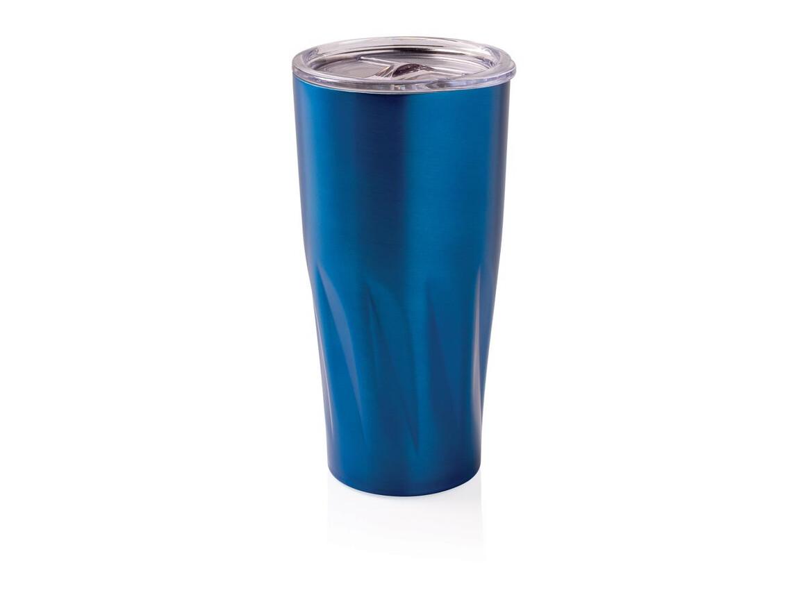 Kupfer-Vakuum Isolierbecher blau bedrucken, Art.-Nr. P432.865