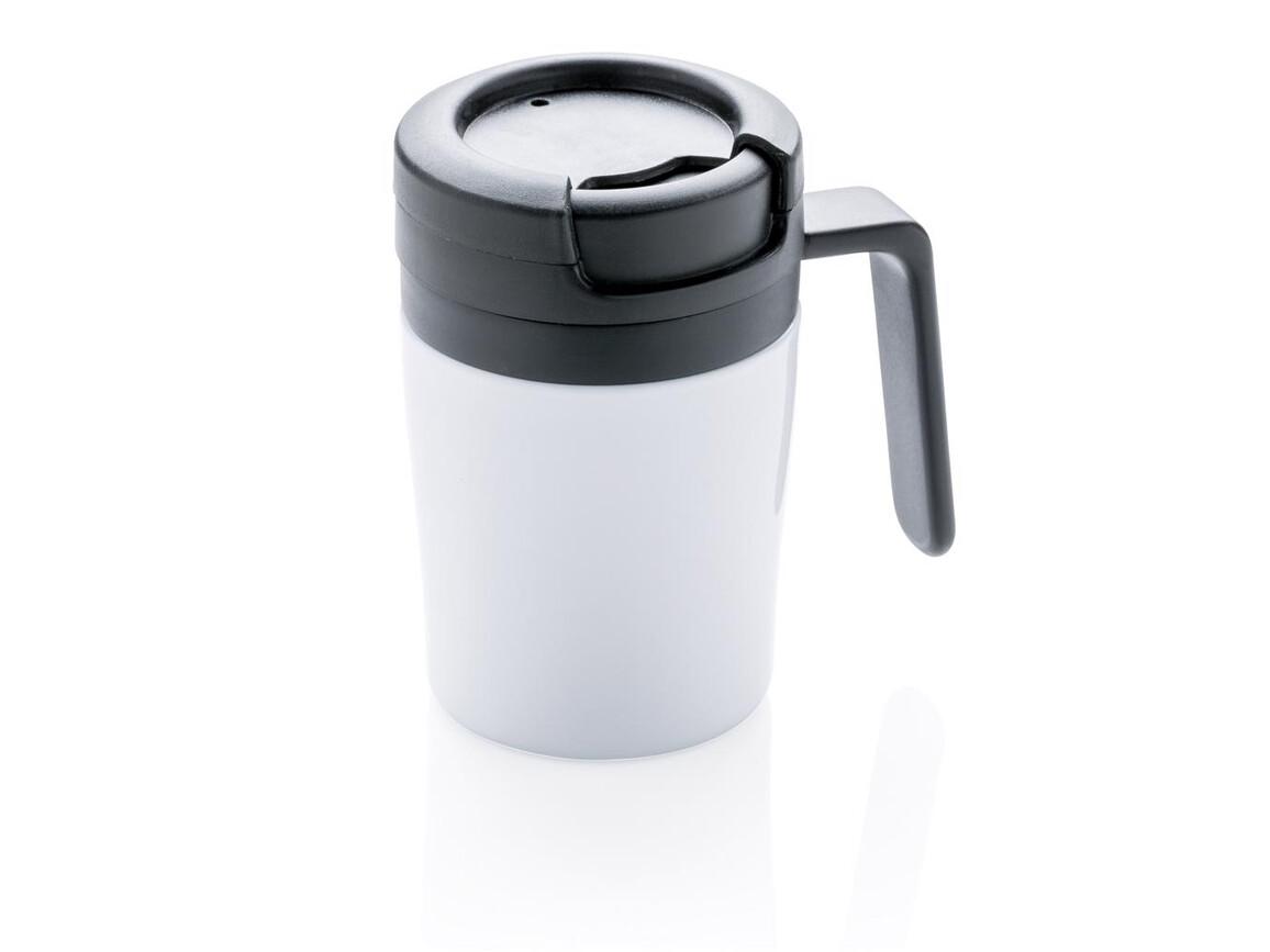 Coffee to go Tasse weiß bedrucken, Art.-Nr. P432.943