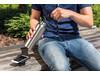 Vakuum Flasche mit Wireless-Charging grau bedrucken, Art.-Nr. P433.422