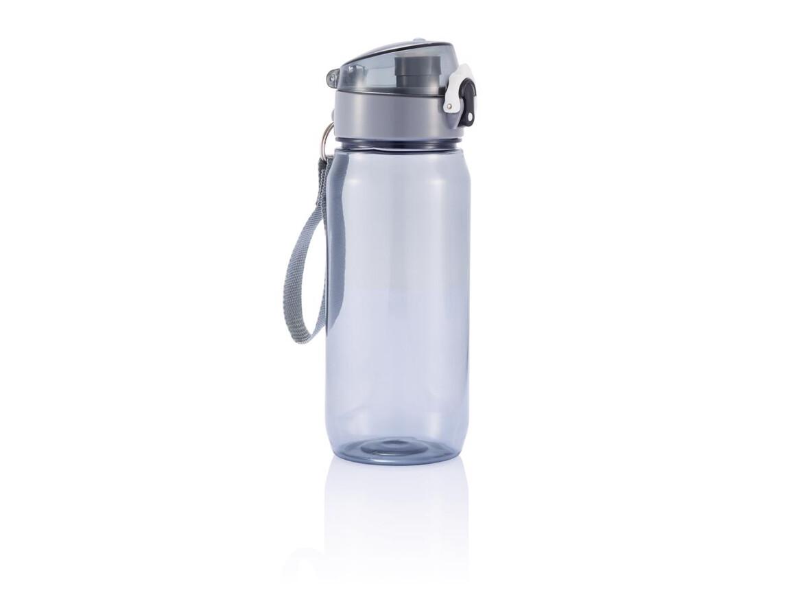 Tritan Flasche schwarz, grau bedrucken, Art.-Nr. P436.001