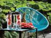 Wasserflasche mit Aromafach grün, anthrazit bedrucken, Art.-Nr. P436.057