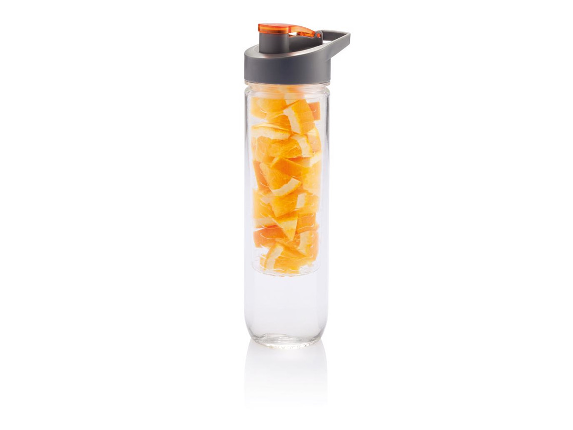 Wasserflasche mit Aromafach orange bedrucken, Art.-Nr. P436.058