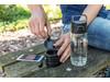 Hydrate Flasche mit True Wireless Kopfhörern transparent bedrucken, Art.-Nr. P436.120