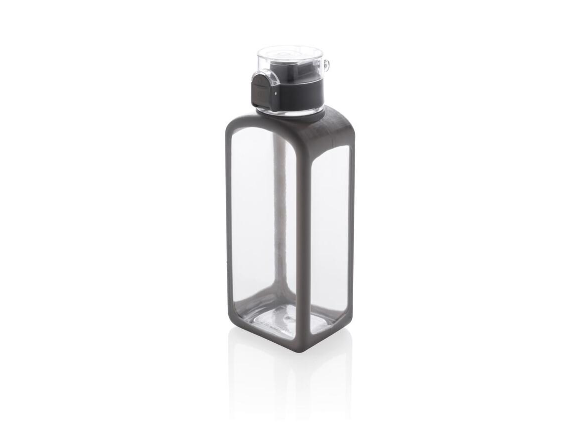 Squared verschließbare, auslaufsichere Tritanflasche weiß bedrucken, Art.-Nr. P436.253