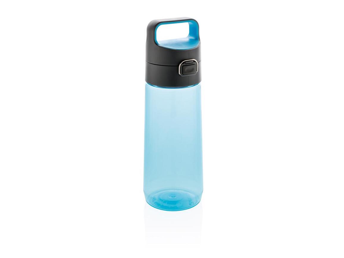 Hydrate auslaufsichere Tritanflasche blau, anthrazit bedrucken, Art.-Nr. P436.285