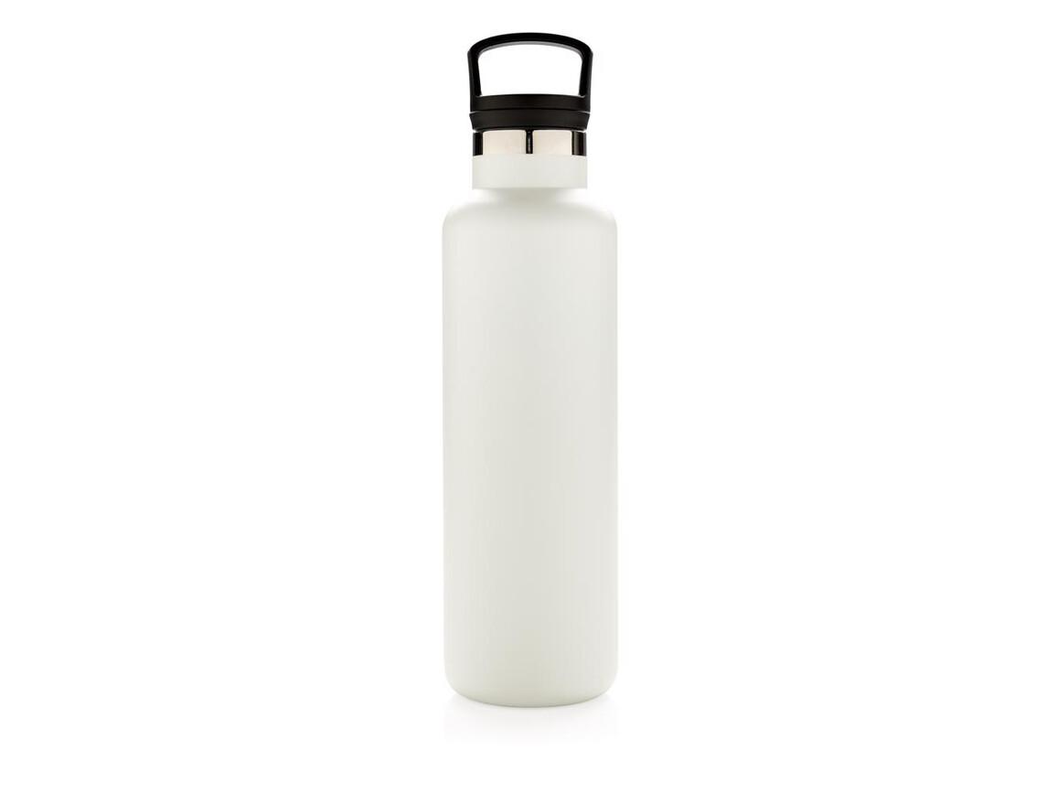 Auslaufsichere Vakuumflasche weiß bedrucken, Art.-Nr. P436.663