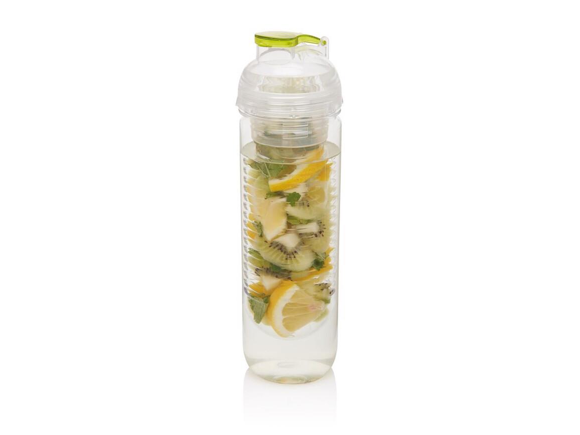 Wasserflasche mit Aromafach grün bedrucken, Art.-Nr. P436.817