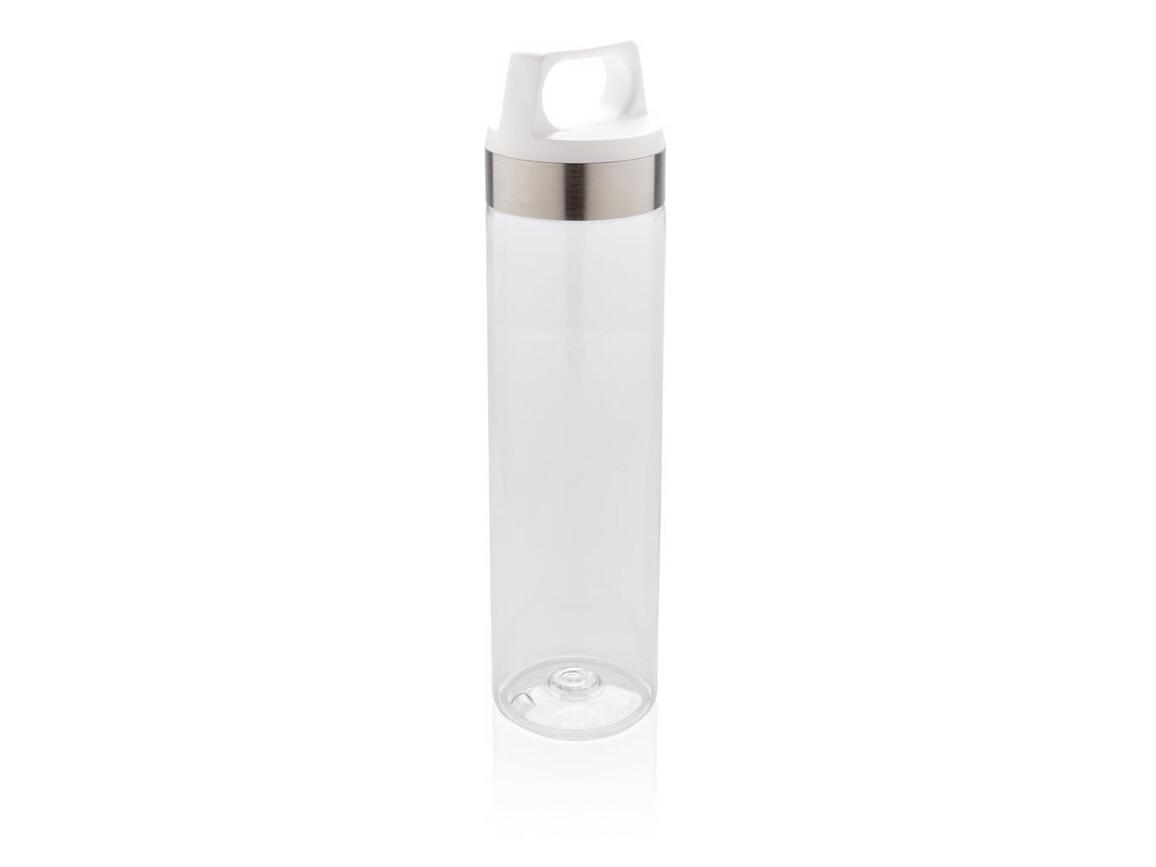 Auslaufsichere Tritan Flasche weiß bedrucken, Art.-Nr. P436.863