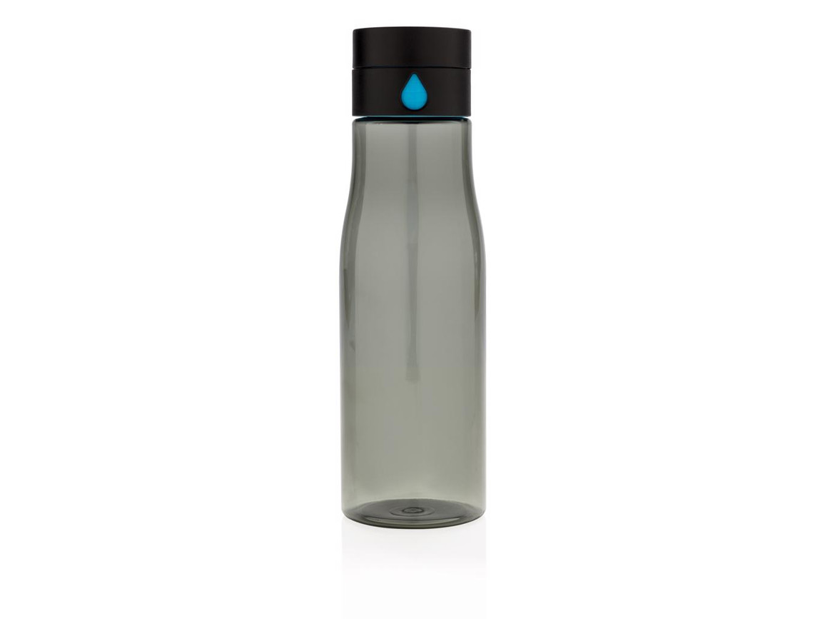 Aqua Hydration-Flasche schwarz bedrucken, Art.-Nr. P436.891