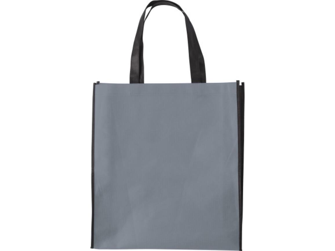 Einkaufstasche 'Zürich' aus Non-Woven – Grau bedrucken, Art.-Nr. 003999999_0972