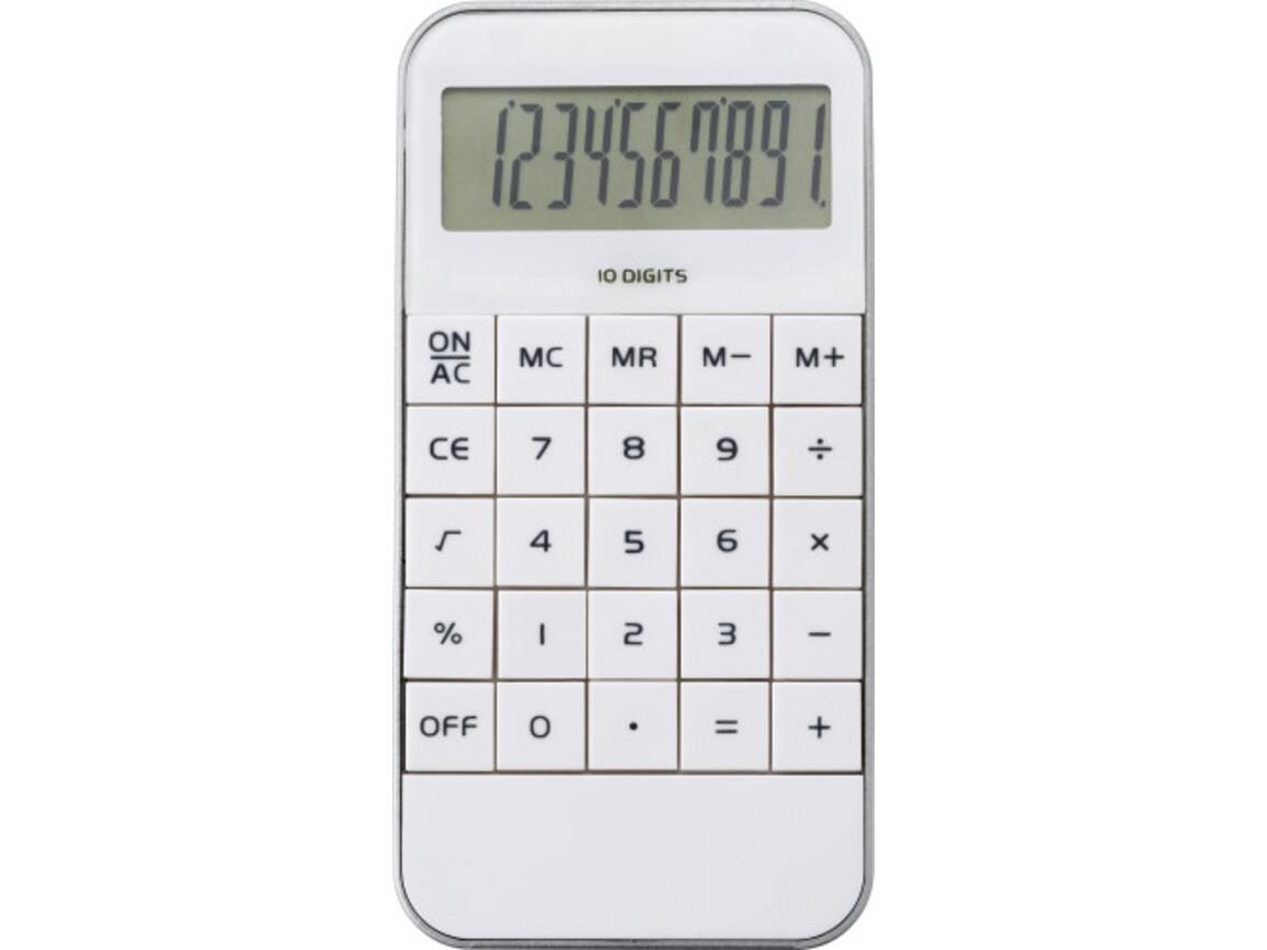 Taschenrechner 'Retro' aus ABS-Kunststoff – Weiß bedrucken, Art.-Nr. 002999999_1140