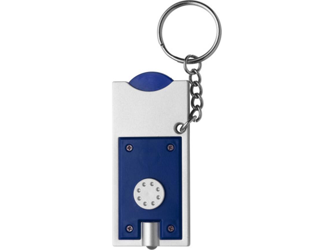 Schlüsselanhänger 'Spotlight' aus Kunststoff – Blau bedrucken, Art.-Nr. 005999999_1987