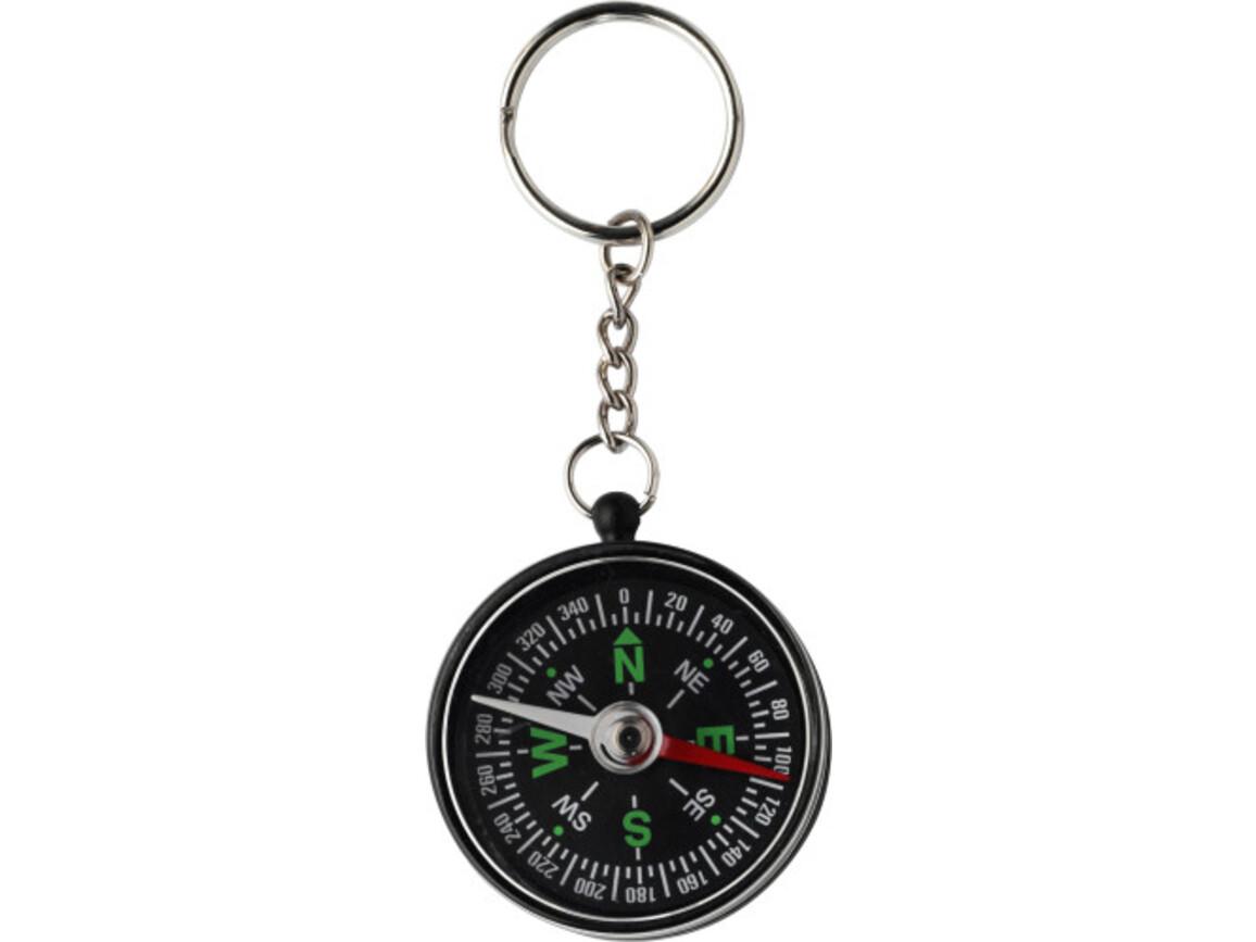Schlüsselanhänger 'Point' aus Kunststoff – Schwarz bedrucken, Art.-Nr. 001999999_2544
