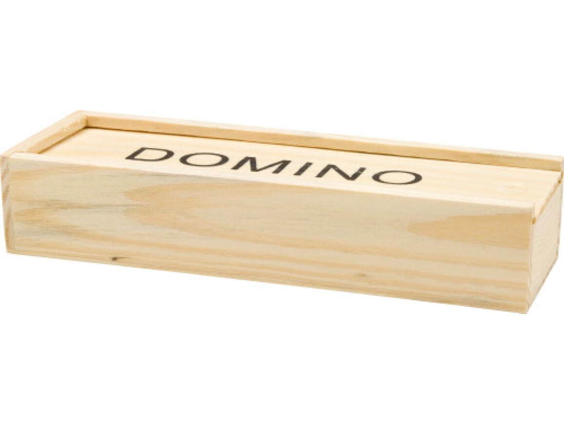 Domino-Spiel 'Mio' in Holzbox – Neutral bedrucken, Art.-Nr. 999999999_2546