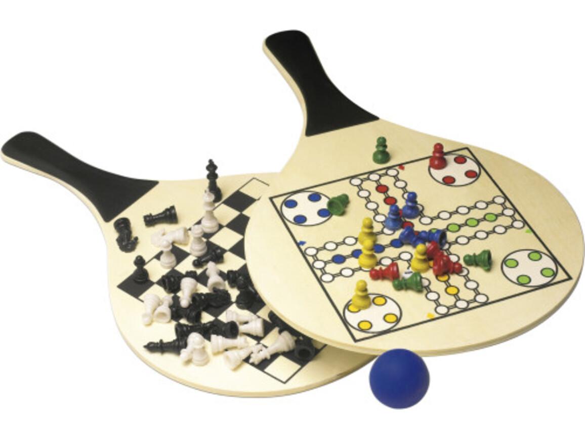 Strandspiel 'Lido' aus Holz – Schwarz bedrucken, Art.-Nr. 001999999_2582