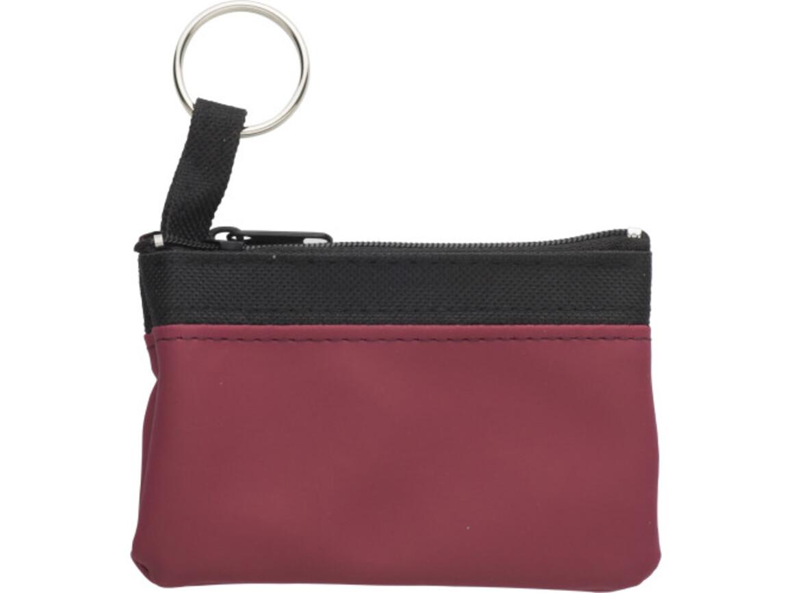 Schlüsseletui 'Zip' aus PU/Nylon – Bordeauxrot bedrucken, Art.-Nr. 010999999_2758