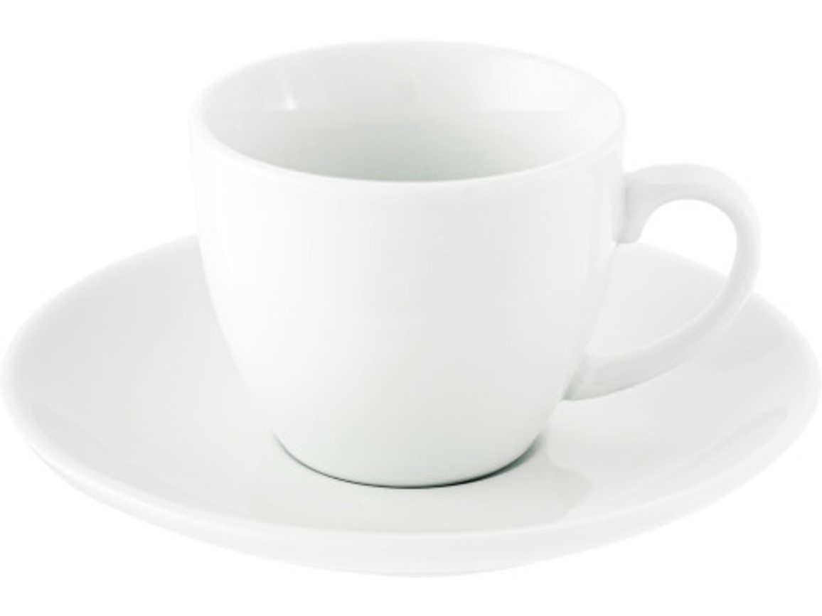 Espresso-Tasse 'Pisa' aus Porzellan – Weiß bedrucken, Art.-Nr. 002999999_3177