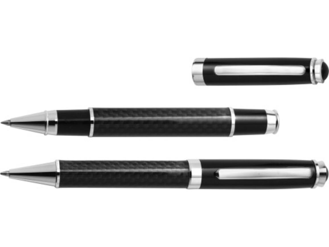 Schreibset 'Klassik' aus Metall – Schwarz bedrucken, Art.-Nr. 001999999_3337